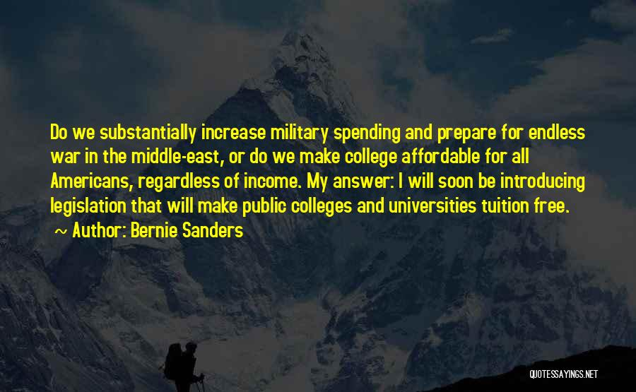 War In Middle East Quotes By Bernie Sanders