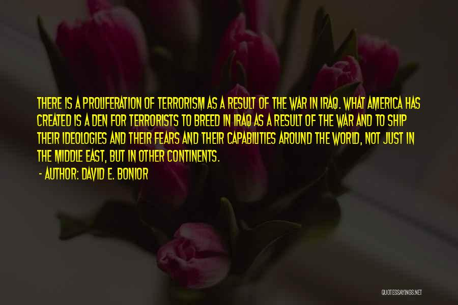 War In Middle East Quotes By David E. Bonior
