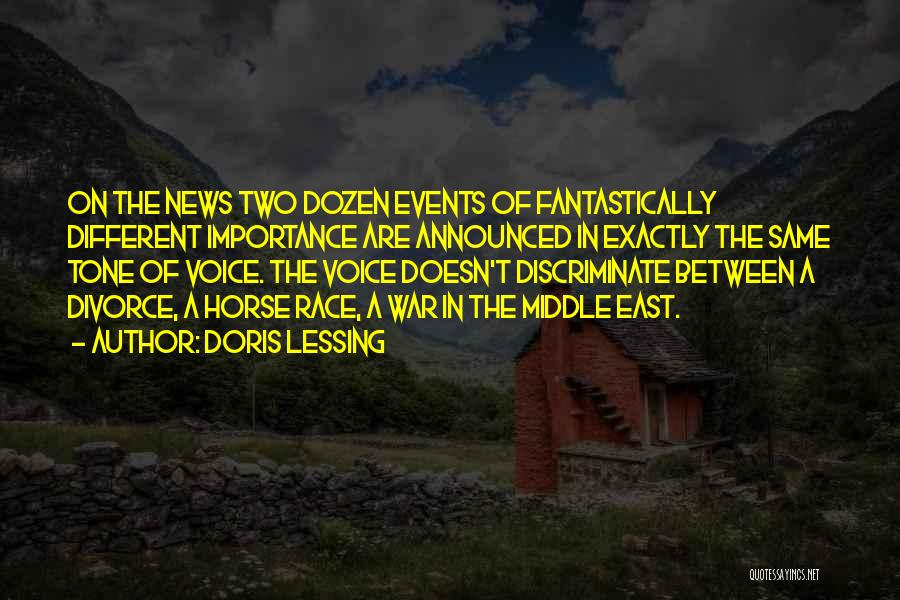 War In Middle East Quotes By Doris Lessing