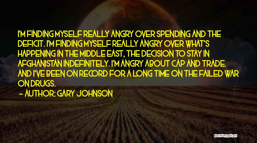 War In Middle East Quotes By Gary Johnson