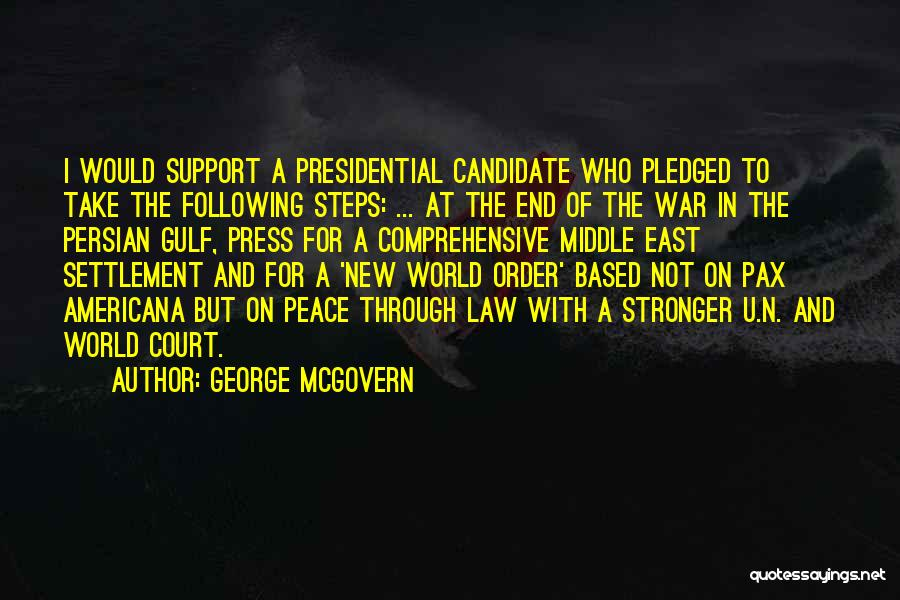 War In Middle East Quotes By George McGovern