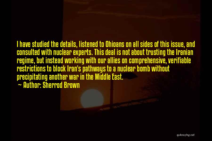 War In Middle East Quotes By Sherrod Brown