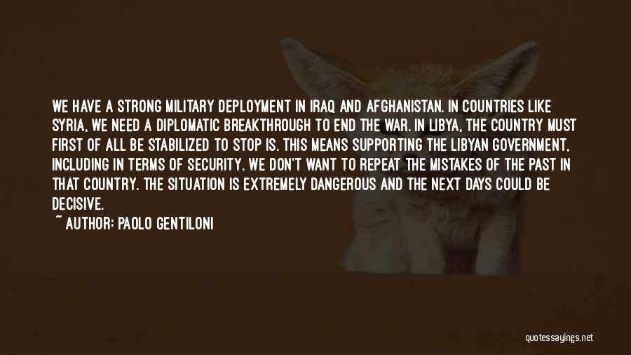 War In Syria Quotes By Paolo Gentiloni