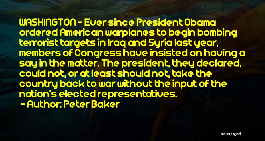 War In Syria Quotes By Peter Baker