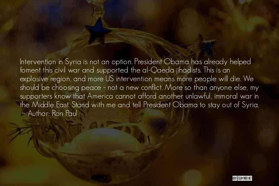 War In Syria Quotes By Ron Paul