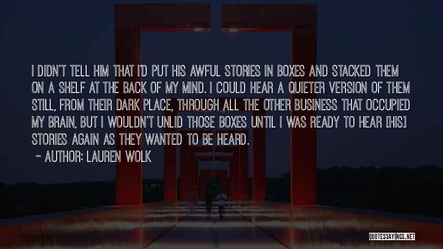 War Ready Quotes By Lauren Wolk