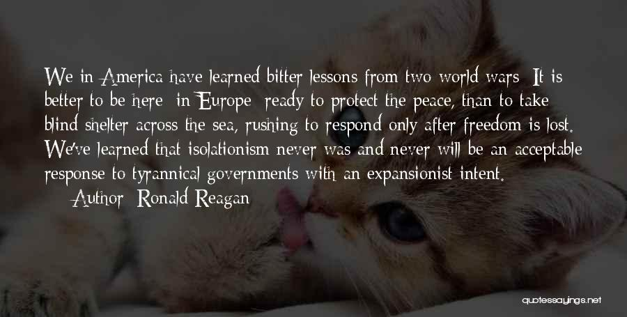 War Ready Quotes By Ronald Reagan
