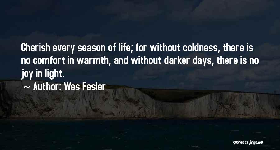 Warmth And Comfort Quotes By Wes Fesler