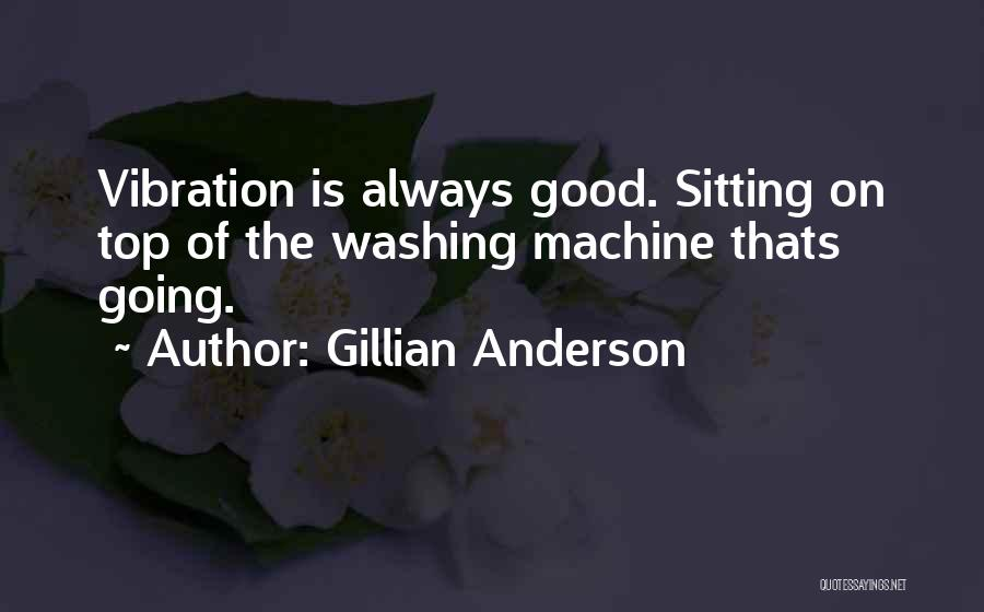 Washing Machines Quotes By Gillian Anderson