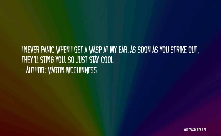 Wasp Sting Quotes By Martin McGuinness