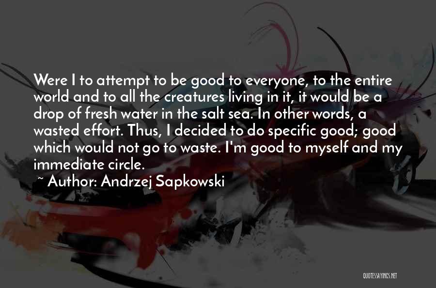 Waste Effort Quotes By Andrzej Sapkowski