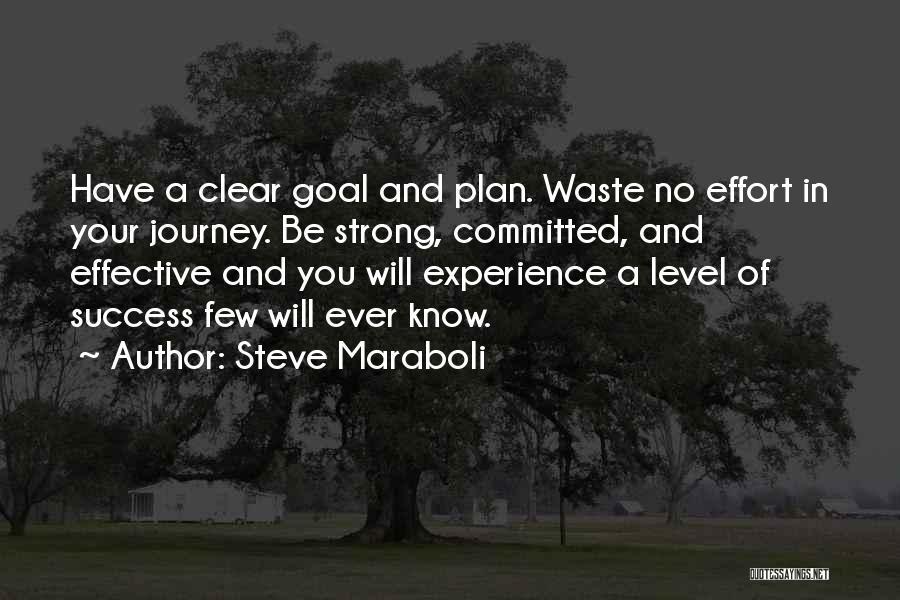 Waste Effort Quotes By Steve Maraboli