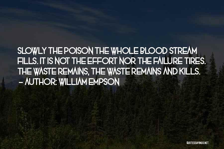 Waste Effort Quotes By William Empson