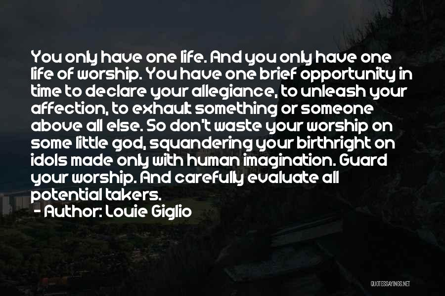 Waste Of Life Quotes By Louie Giglio