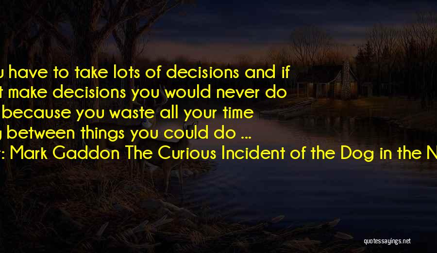 Waste Of Life Quotes By Mark Gaddon The Curious Incident Of The Dog In The Night-Time