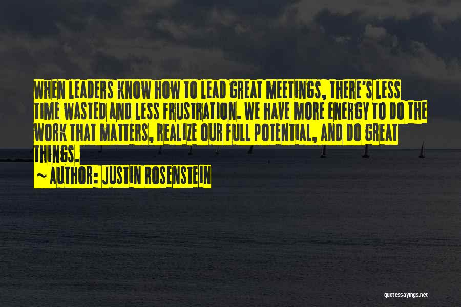 Wasted Potential Quotes By Justin Rosenstein