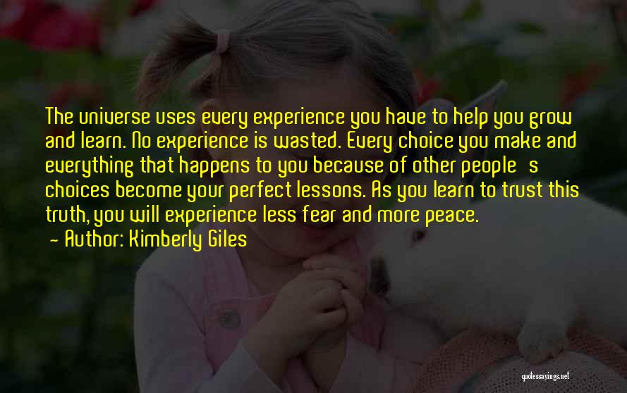 Wasted Trust Quotes By Kimberly Giles