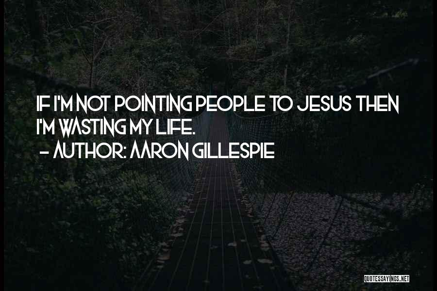 Wasting Life Quotes By Aaron Gillespie