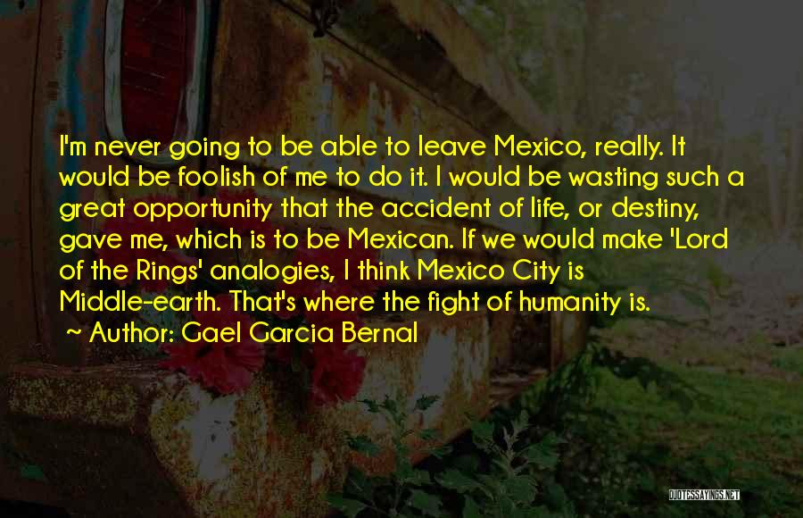 Wasting Life Quotes By Gael Garcia Bernal