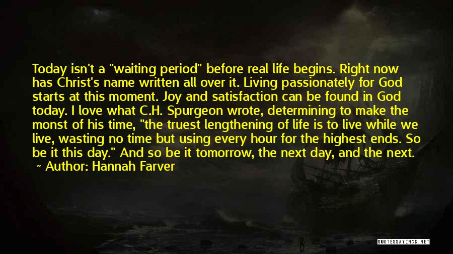 Wasting Life Quotes By Hannah Farver