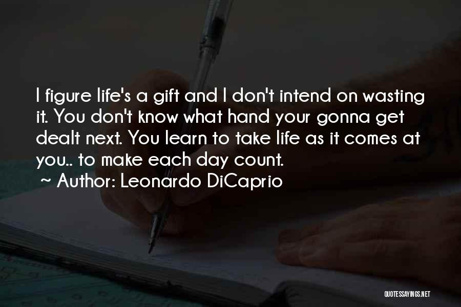 Wasting Life Quotes By Leonardo DiCaprio