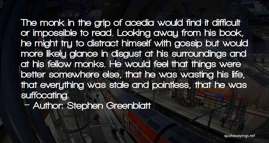 Wasting Life Quotes By Stephen Greenblatt