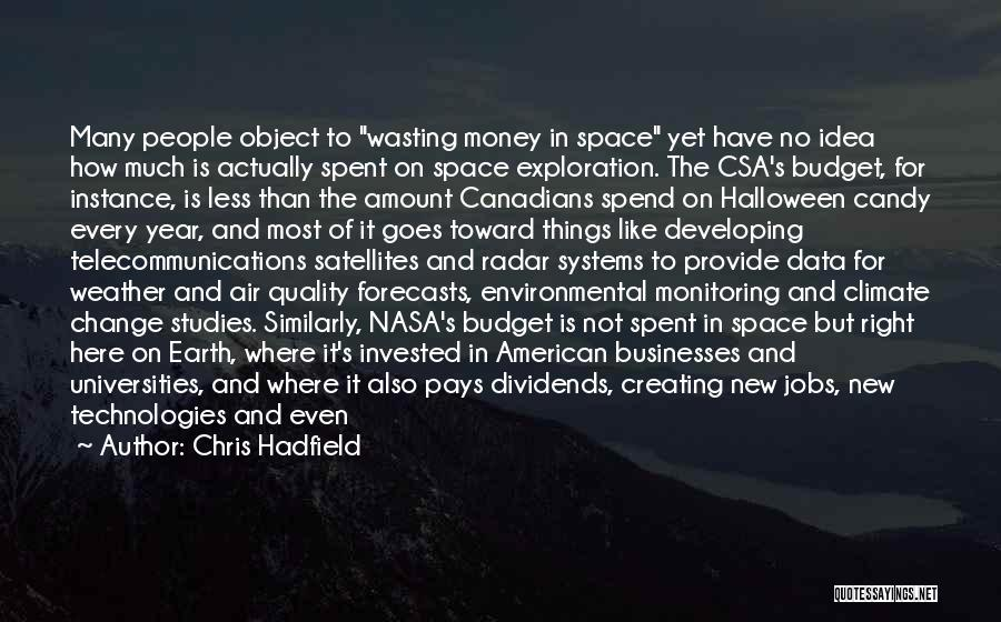 Wasting Money Quotes By Chris Hadfield