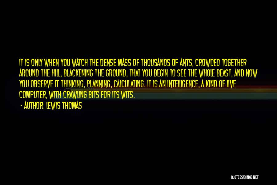 Watch And Observe Quotes By Lewis Thomas