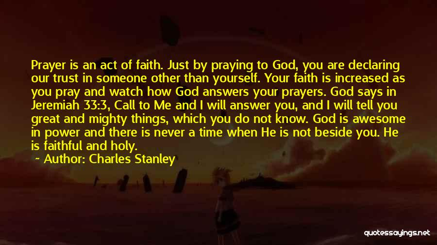 Watch Me Quotes By Charles Stanley