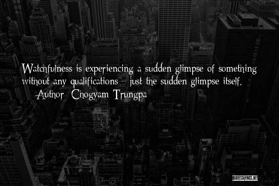 Watchfulness Quotes By Chogyam Trungpa