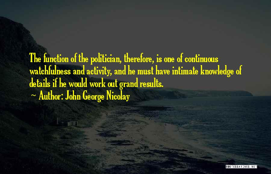 Watchfulness Quotes By John George Nicolay