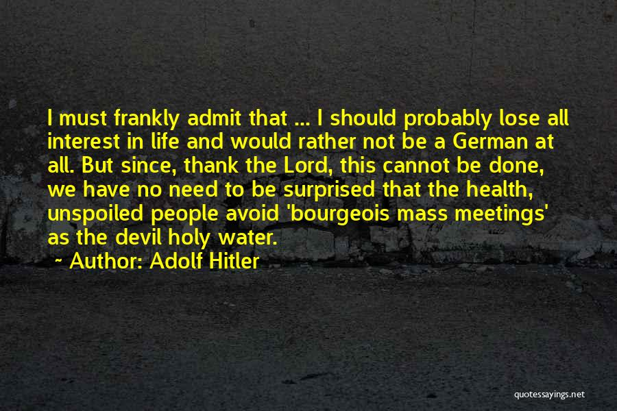Water And Health Quotes By Adolf Hitler