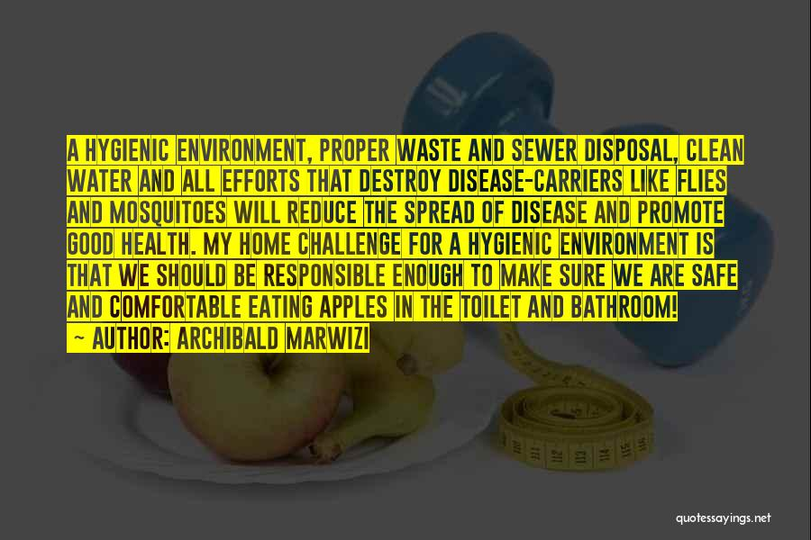 Water And Health Quotes By Archibald Marwizi