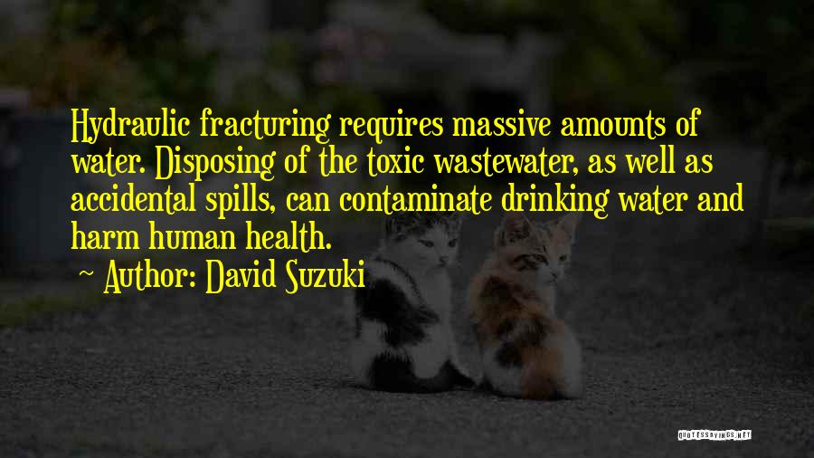 Water And Health Quotes By David Suzuki