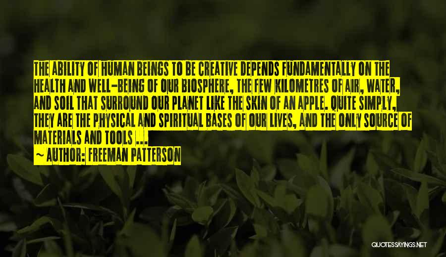 Water And Health Quotes By Freeman Patterson