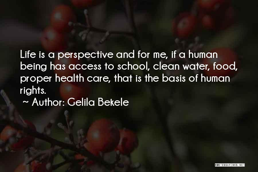 Water And Health Quotes By Gelila Bekele
