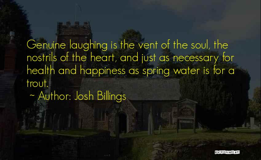 Water And Health Quotes By Josh Billings
