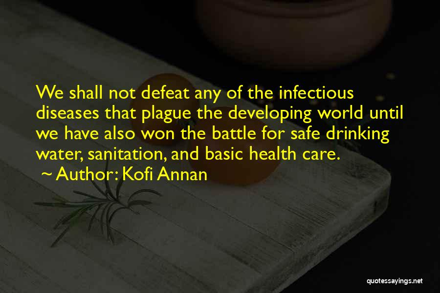 Water And Health Quotes By Kofi Annan