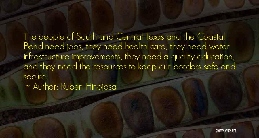 Water And Health Quotes By Ruben Hinojosa