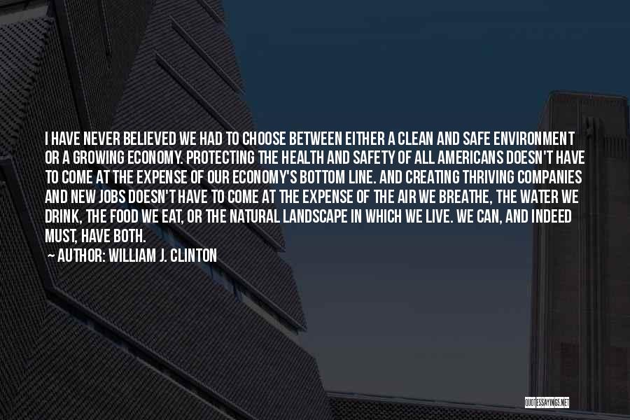 Water And Health Quotes By William J. Clinton