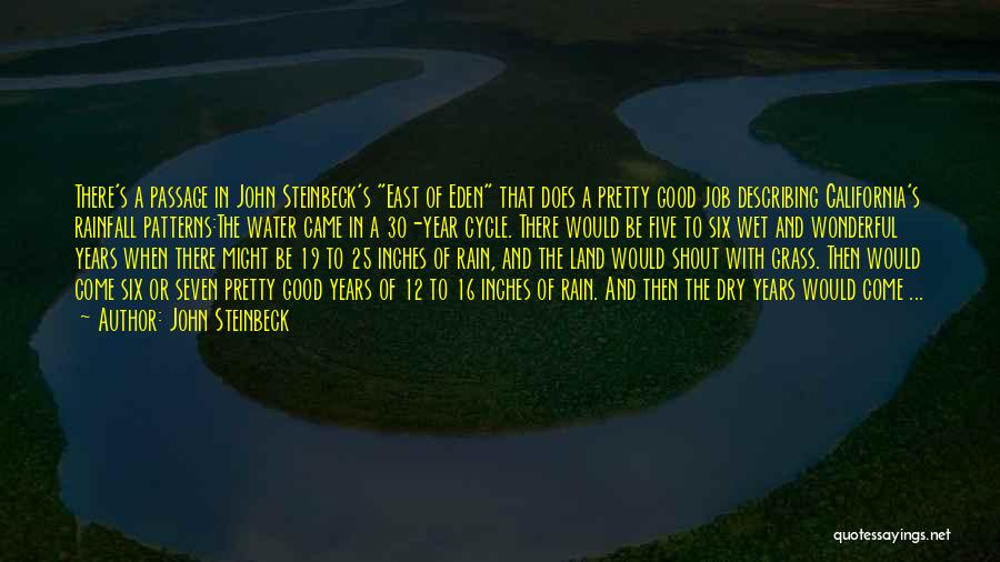 Water And Land Quotes By John Steinbeck