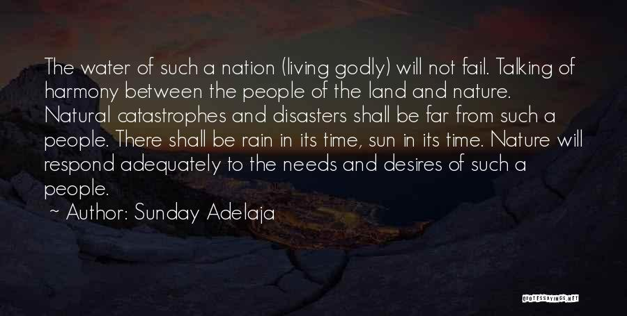 Water And Land Quotes By Sunday Adelaja