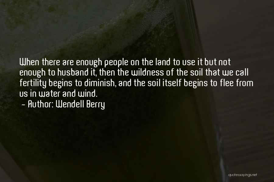 Water And Land Quotes By Wendell Berry