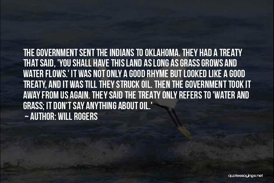 Water And Land Quotes By Will Rogers