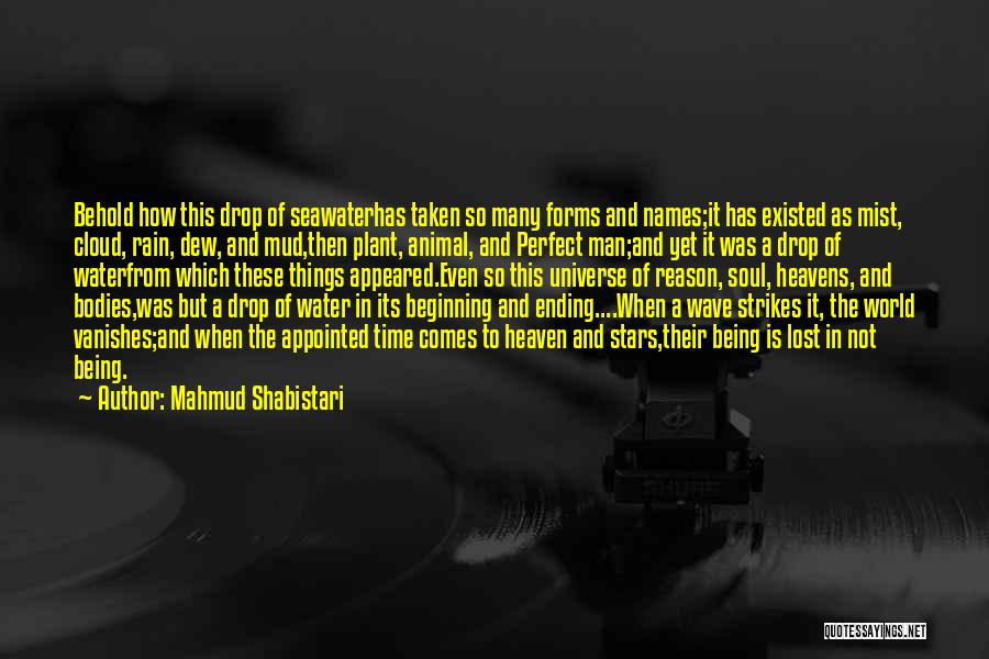 Water Bodies Quotes By Mahmud Shabistari