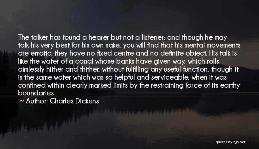 Water Canal Quotes By Charles Dickens