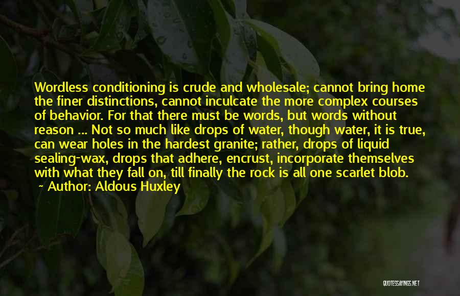 Water Drops Quotes By Aldous Huxley