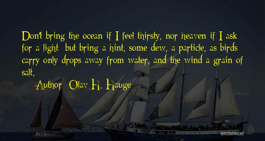 Water Drops Quotes By Olav H. Hauge