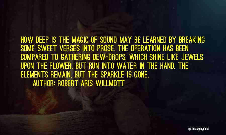 Water Drops Quotes By Robert Aris Willmott