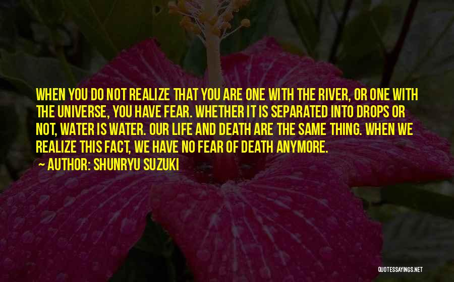 Water Drops Quotes By Shunryu Suzuki